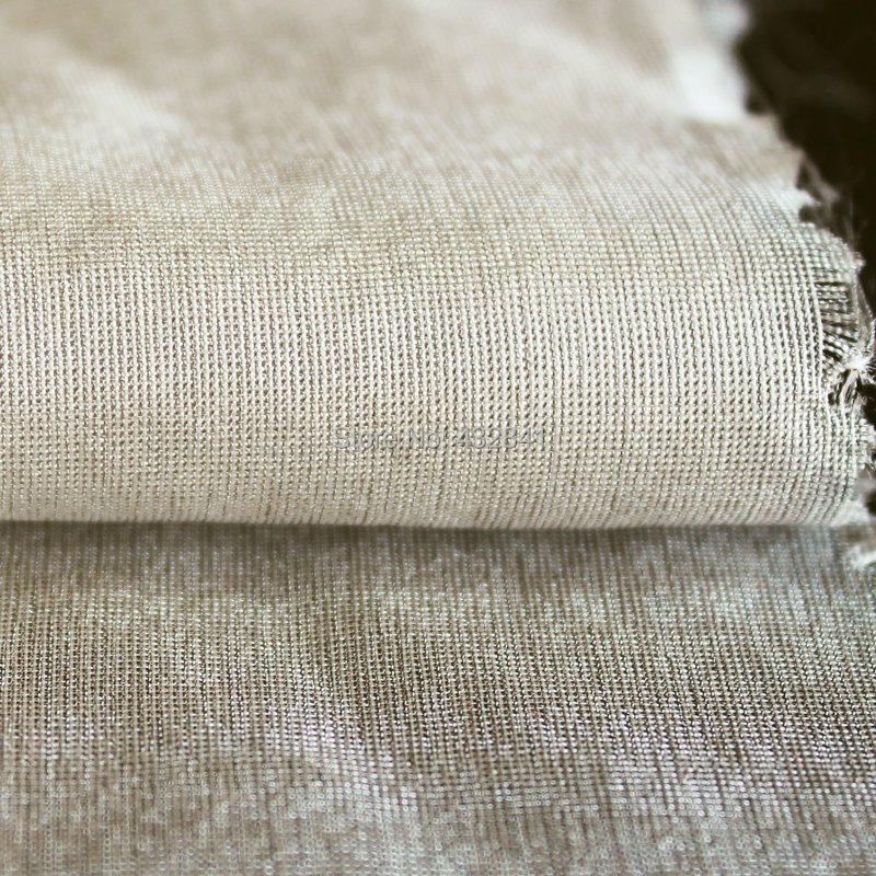 Mubbery ipək wiht gümüş lif radiasielding parça gümüş 66 #