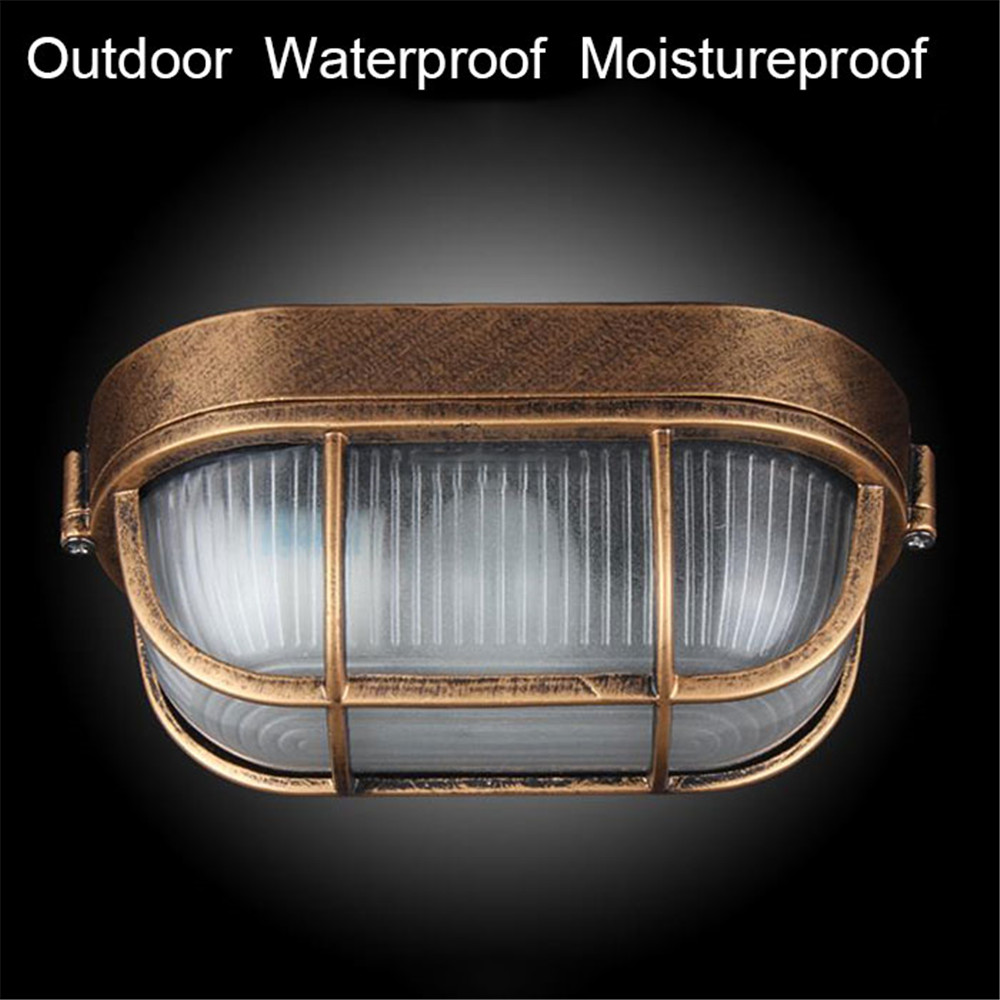 Retro moisture explosion-proof outdoor Wall light Vintage Waterproof E27 ceiling lamp outdoor wall & Porch lighting cicilighting waterproof explosion proof wall lamp moisture proof balcony garden lights for bedroom balcony outdoor lighting e27