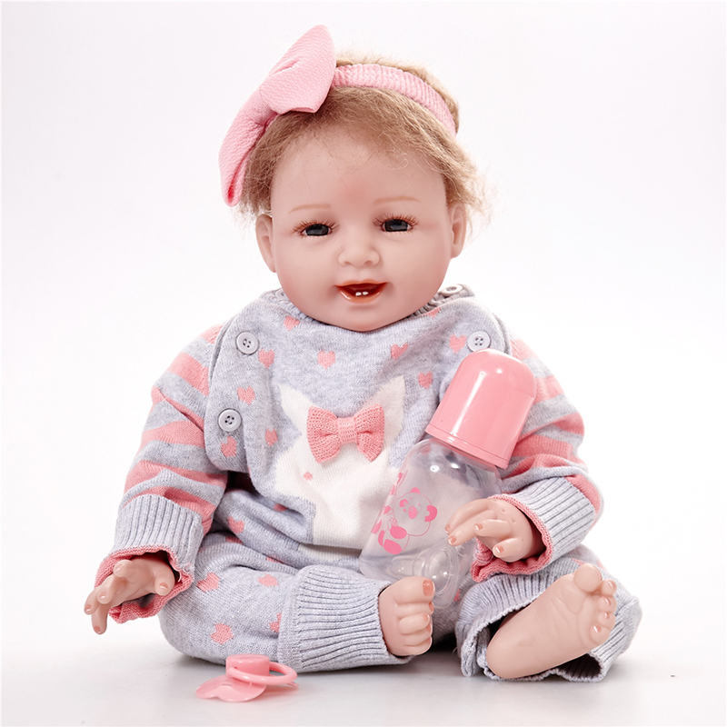 Silicone Body Reborn Girl Baby Like Real Doll Toys 55cm Newborn Princess Toddler Babies Dolls Birthday Gift Early Education