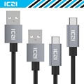 USB C to USB 2.0 Braided Nylon Cable 2 Pack 2M 1M USBC Type C Cable for Macbook Chromebook Pixel Nexus 6P and More--ICZI