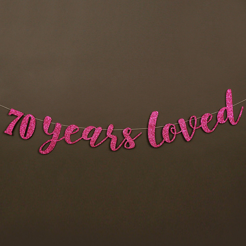 70 años adoró Glitter Banner 70.a Fiesta de cumpleaños - Para fiestas y celebraciones - foto 3