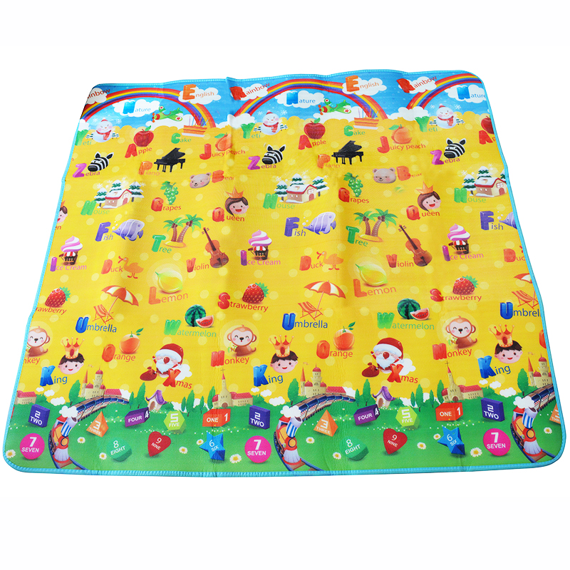 Baby Crawling Rug 200*180*0.5cm Happy Holiday Kids Floor Carpet Baby Playmat
