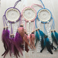 new design sweet style lace decor dreamcatcher net pearl home wall hanging dream catcher car is hanged adorn