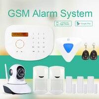 433 МГц GSM сигнализация Поддержка смарт зоны/дверной звонок/RFID функция умный дом сигнализация охранная система