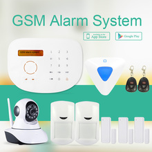 Ecnomical price wireless GSM alarm system with home automation & touchpad RFID GSM security Alarm System+indoor siren