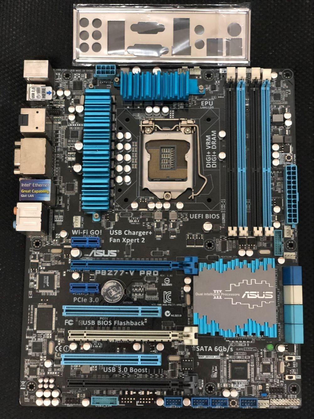 Carte mère d'origine ASUS P8Z77-V PRO DDR3 LGA 1155 pour I3 I5 I7 CPU 32 gb USB3.0 SATA3 Z77 carte mère Gratuit expédition
