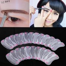 24 Pcs Reusable Eyebrow Stencil Set Eye Brow DIY Drawing Guide Shaping Grooming Template Card Easy Makeup Beauty Kit YF2