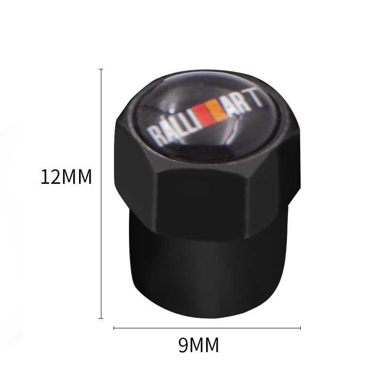 4 Pcs Mobil Gaya Otomatis Topi untuk Mitsubishi Ralliart Lancer Ralli Seni 10 Asx Mobil Lencana Lencana Aksesoris Mobil -Gaya