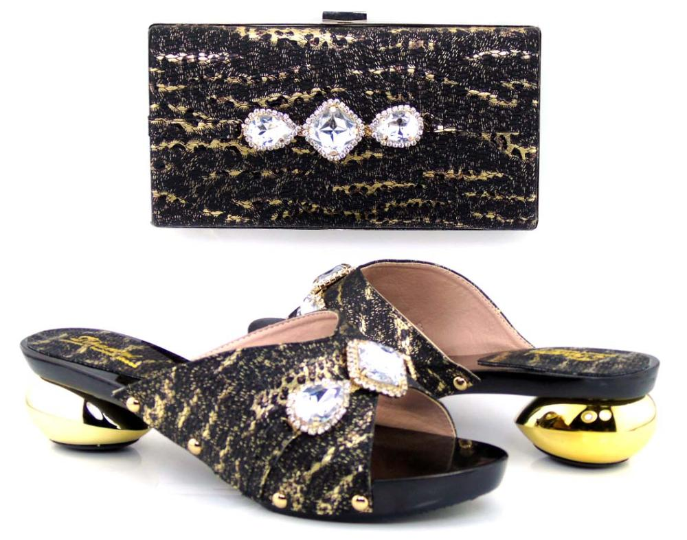 2297-03 new arrival free shipping by DHL matching Italian design African lady's fashion Peep toe wedding shoes and bag set