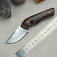 Engineering Aesthetics Handle Tactical Fixed Blade Knife High end Damasteel Sharp Fixed Hunting Knife