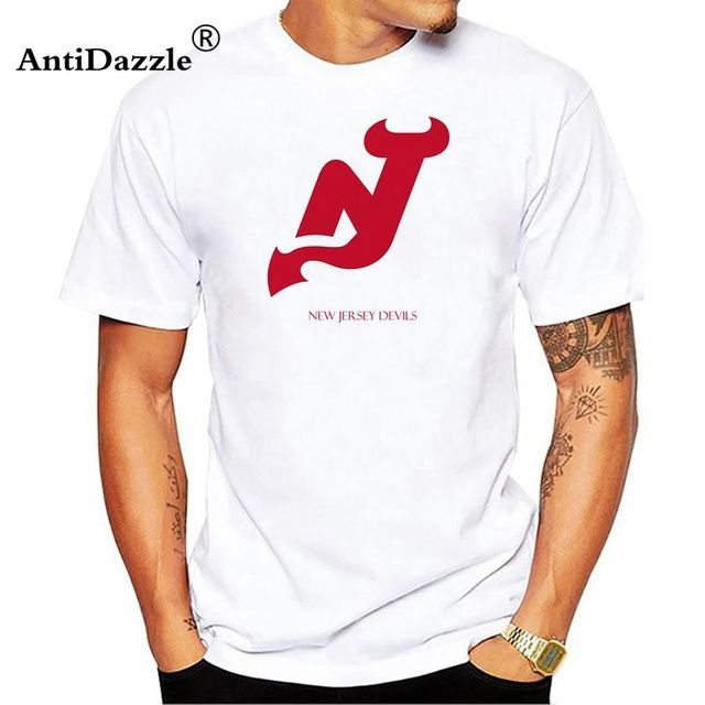 best service 9aeab 07cc4 US $9.03 5% OFF|Antidazzle New Jersey Devils Mens Summer style Printing T  Shirt Custom T Shirt-in T-Shirts from Men's Clothing on Aliexpress.com | ...