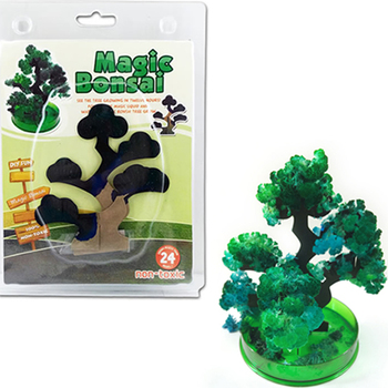 140mm H Visual Green Magic Growing Paper Bonsai Tree Kit Artificial Magical Pine Potted Plant Trees Science Kids Christmas Toys
