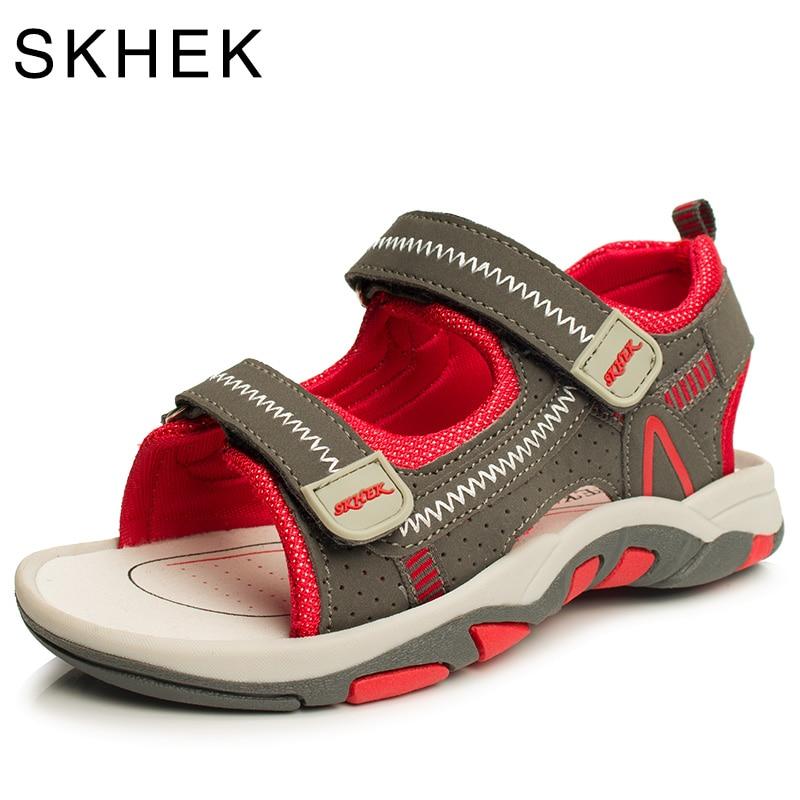 Summer Beach Kids Shoes صندل أطفال للبنين والبنات صندل أطفال صغار لعمر 4-15 سنة أحمر أخضر أزرق