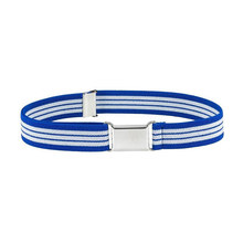 HUOBAO Stripe Elastic Canvas Belt For Kids Alloy Buckle for Men Students Adjustable Children Waist Belts