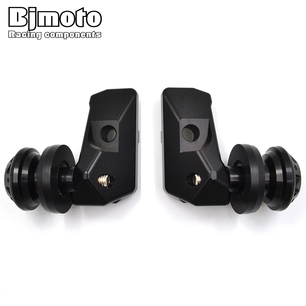 BJMOTO CNC Rear Axle Spindle Chain Adjuster Blocks with Spool Sliders For Yamaha R3 2015-2018,R25 2013-2018,MT03 MT25 2015-2016 fit for kawasaki z900 z 900 2017 motorcycle cnc aluminum rear axle spindle chain adjuster blocks and spool sliders