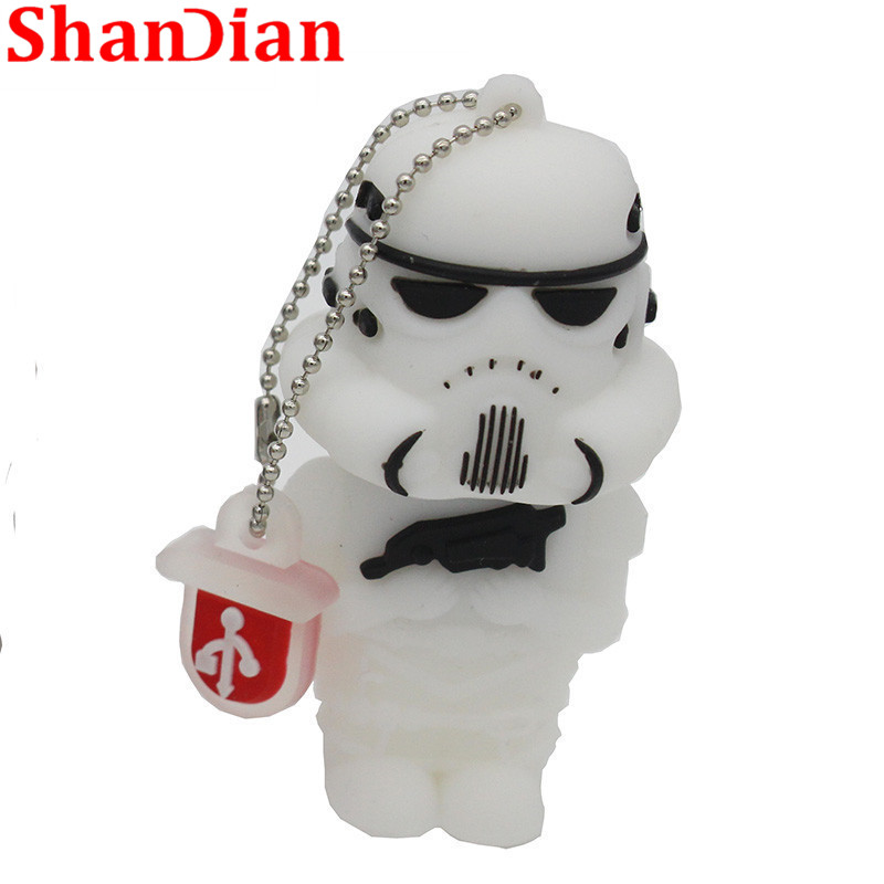 Image 4 - SHANDIAN hot sale cartoon flash memory card with usb 4GB 16GB 32GB 64GB Star Wars Robot all styles USB 2.0 Pen drive pendriver-in USB Flash Drives from Computer & Office