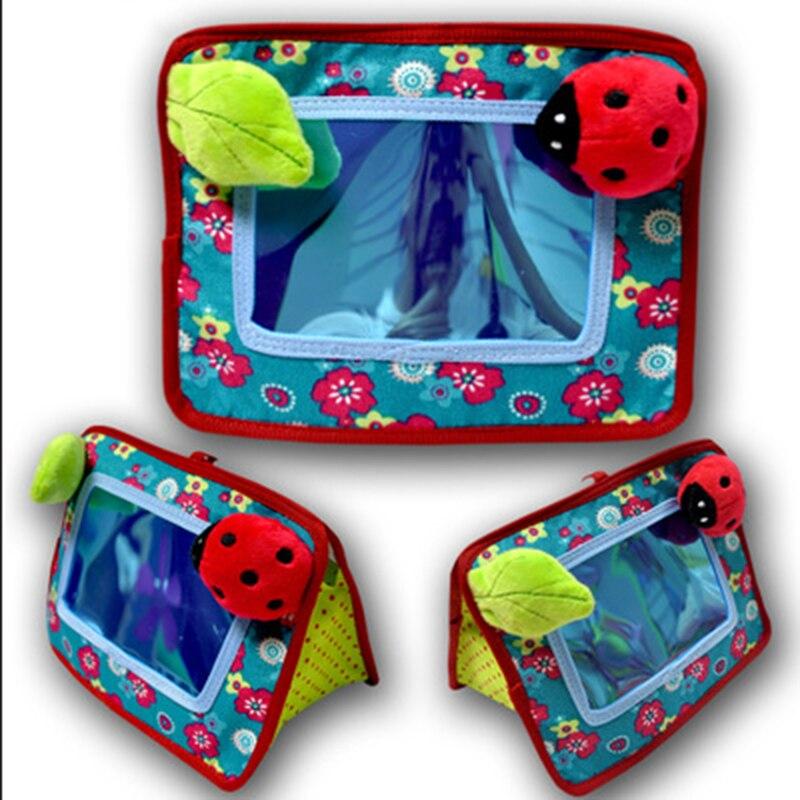 0 ~ 12 Monate Baby Spiegel Spielzeug Gefüllte Plüsch Baby Rasseln Kleinkind Auto Sitz Spiegel Infant Kinderwagen Hängen Neugeborenen Pädagogisches Spielzeug