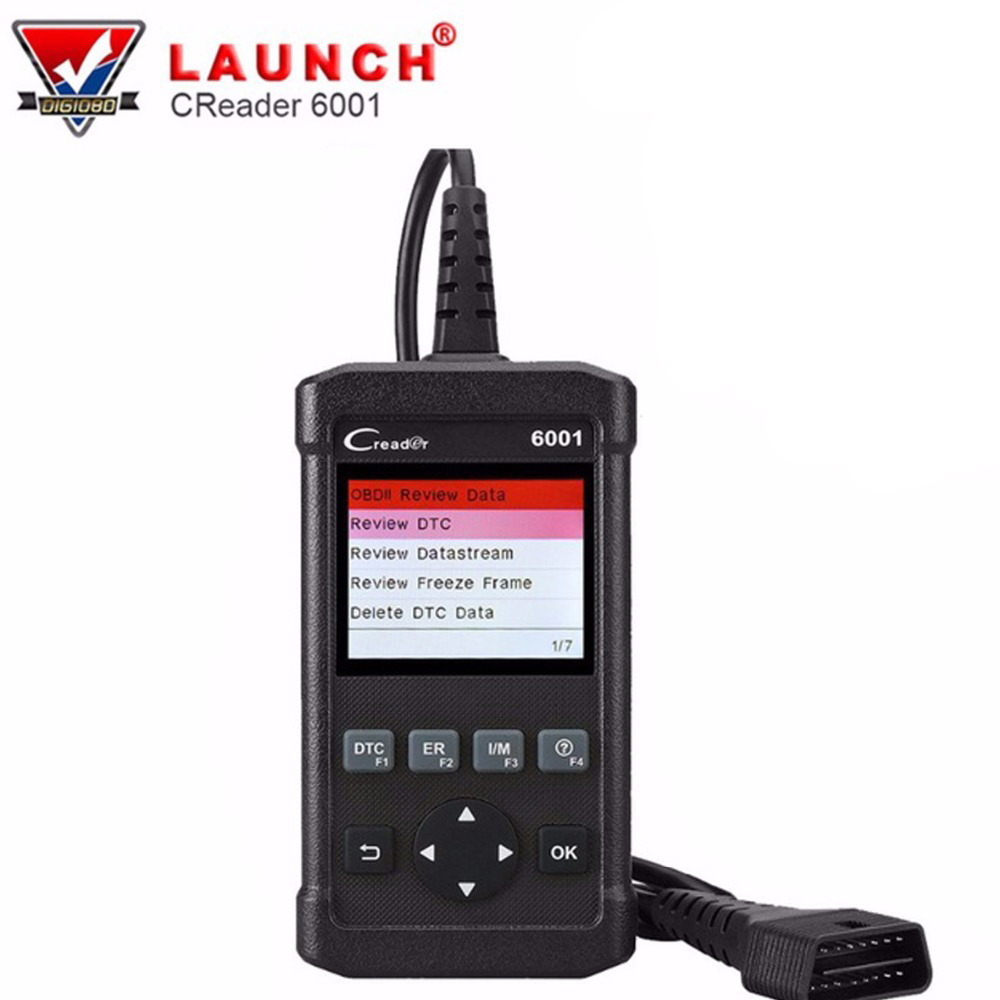 Launch Creader 6001 OBD2 Scanner Car Code Reader Scan Tool Full OBDII EOBD Diagnostic Functions Clear Error Code Turn Off MIL