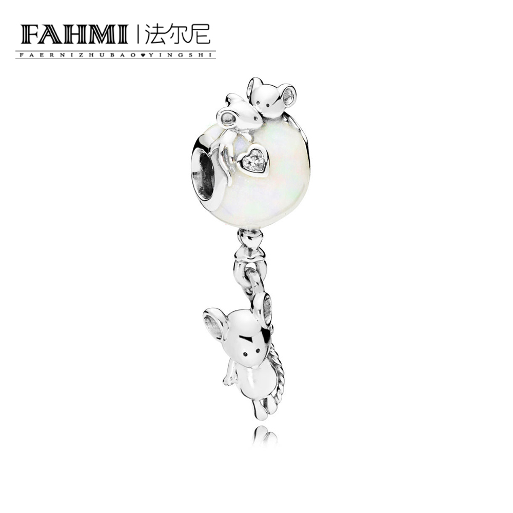 FAHMI 100% 925 Sterling Silver 1:1 Authentic 797240EN23 MOUSE AND BALLOON HANGING CHARM Bracelet  Original  Women  Jewelry 0
