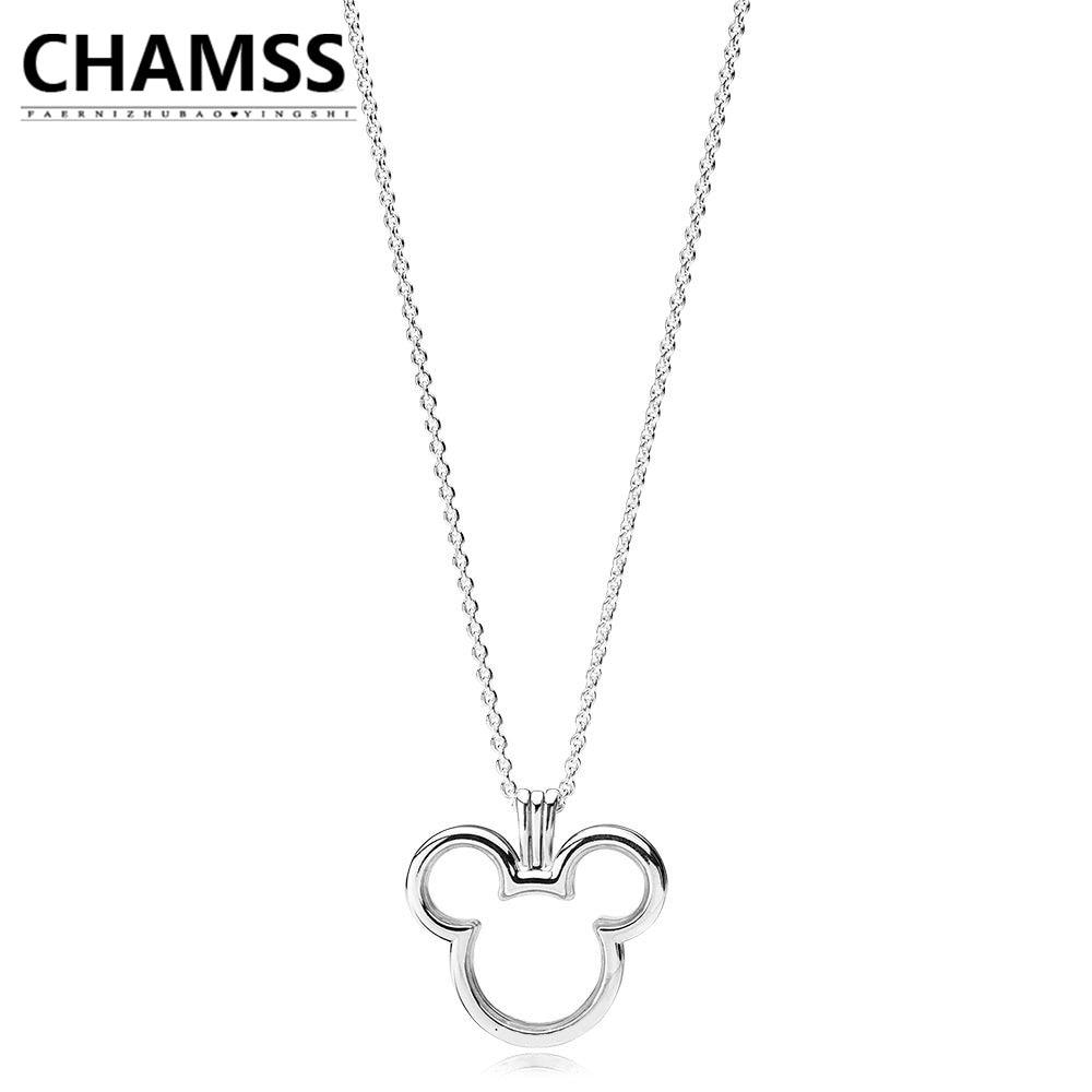 CHAMSS 2019 PD charmes argent 925 Original 1:1 MI souris flottant boîte pendentif collier petite amie livraison gratuite 397177