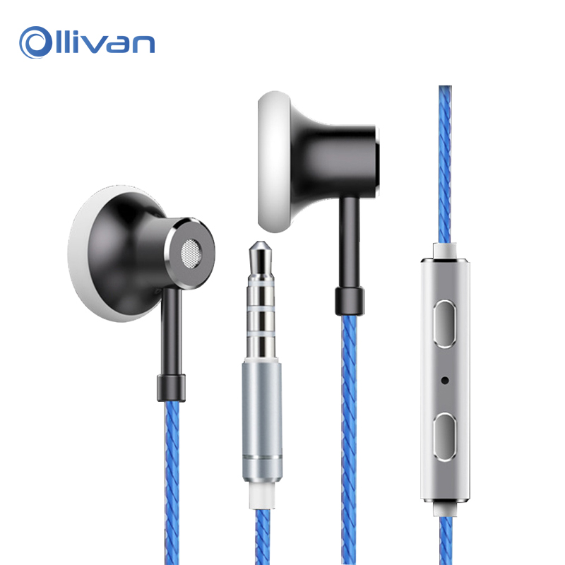 Ollivan MS16 Flat Head Earbuds Sports Running Music HIFI Headset Stereo Bass Earphone with Mic for iPhone 7 xiaomi MP3 Player ...