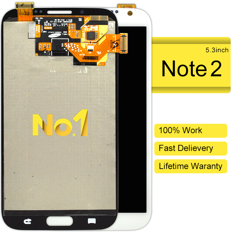 ФОТО Time-limited 10pcs For Samsung Note 2 N7100 Lcd Display With Touch Screen Digitizer Without Frame Assembly Free Dhl Shipping