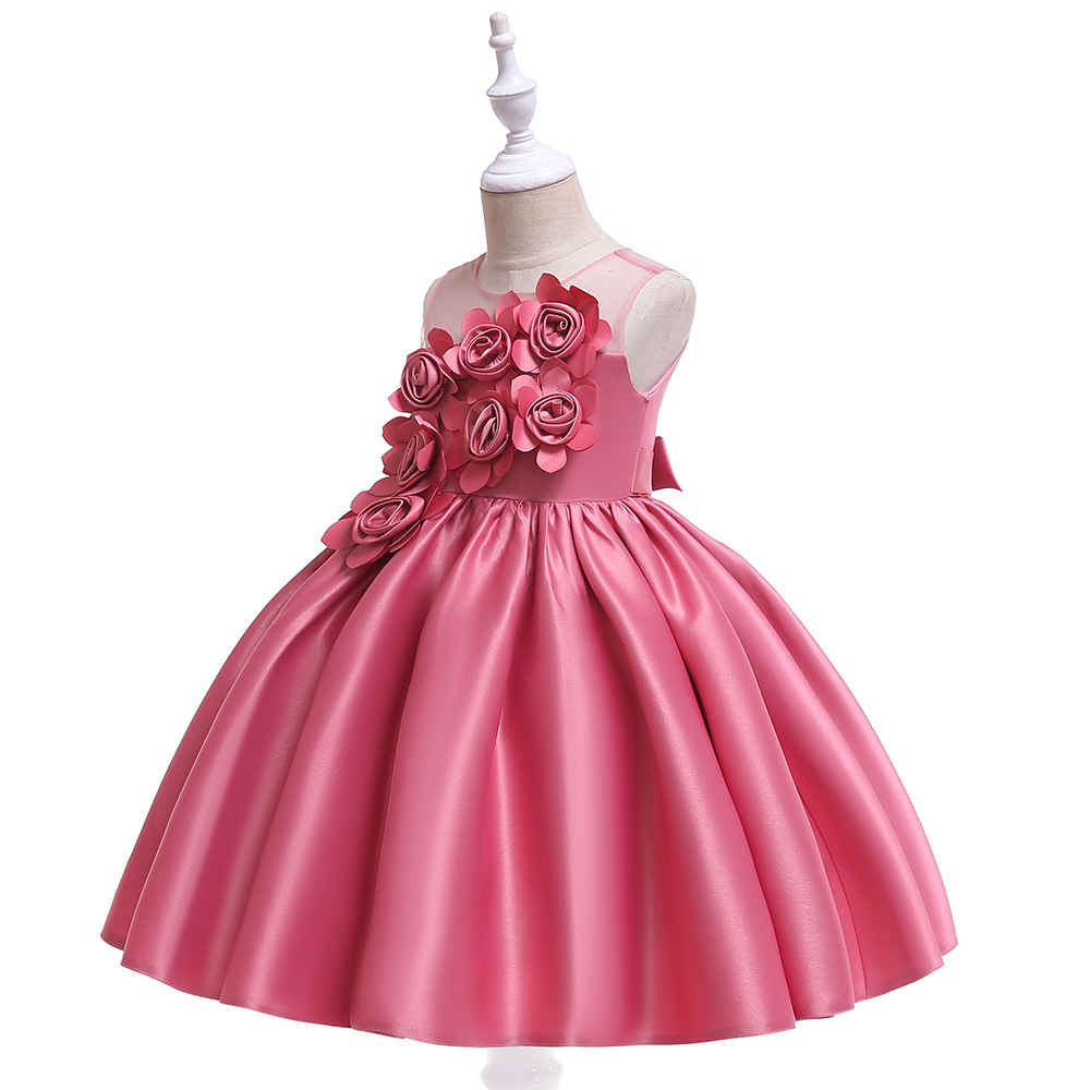 Princess Pink Lace Flower Girl Dresses 2019 Tulle Girls Pageant Dresses First Communion Dresses Kids Evening Gowns