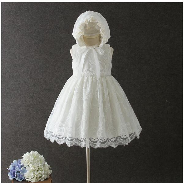 Baby Girls Baptism Dresses 2017 Lace Flower Infant Girl's Princess tutu Dress Toddler Formal Kids Birthday Party Dress Newborn 2017 fashion summer hot sales kid girls princess dress toddler baby party tutu lace bow flower dresses fashion vestido