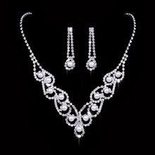 RNAFASHION Top Quality Imitation Pearl White Gold Plated Elegant Wedding Bridal Jewelry Set Made with Austrian Crystals Women недорого