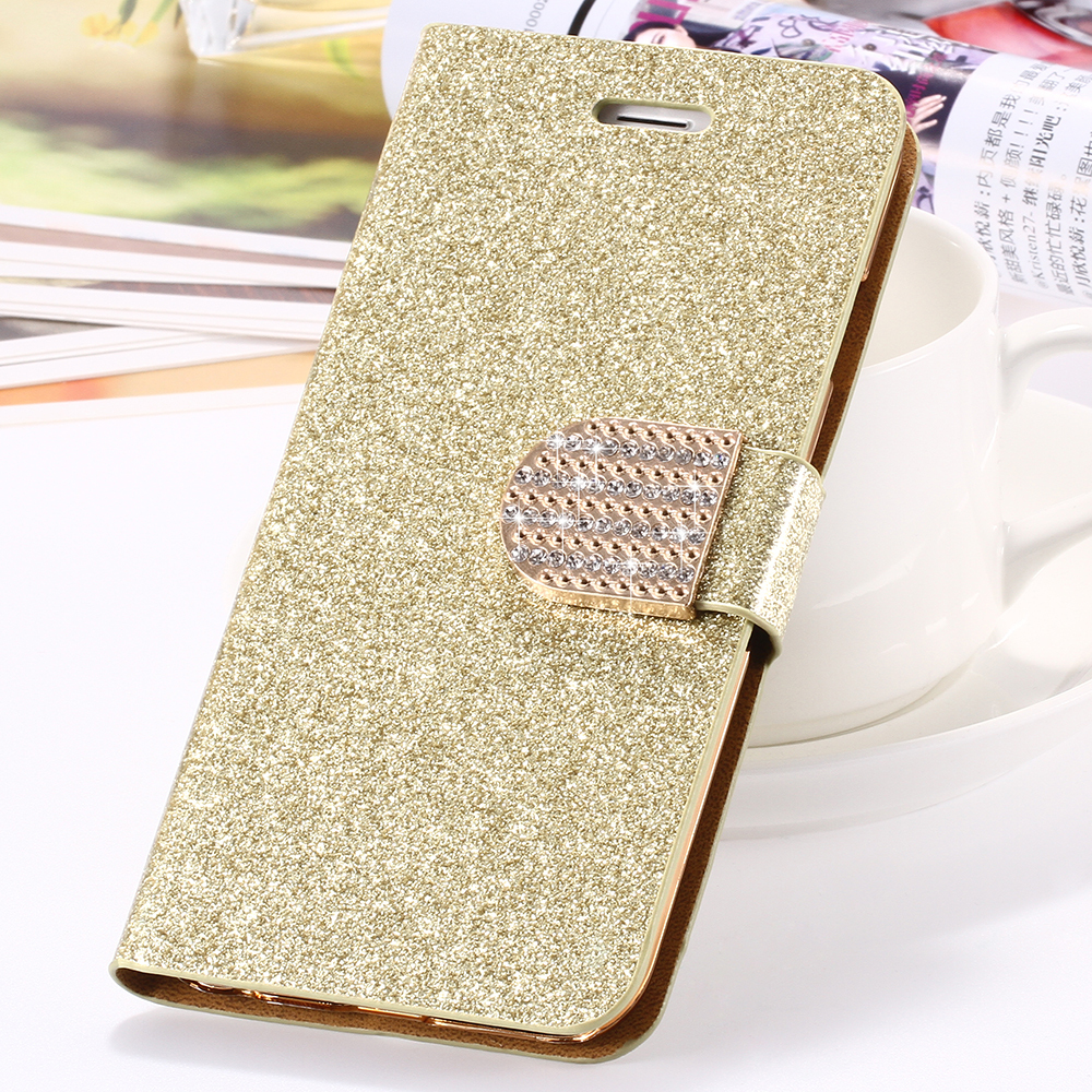 ... For iPhone 6 6S Plus 7 Plus Cover Glitter Bling Crystal Diamond Leather  Wallet Case For ... 13d4612372