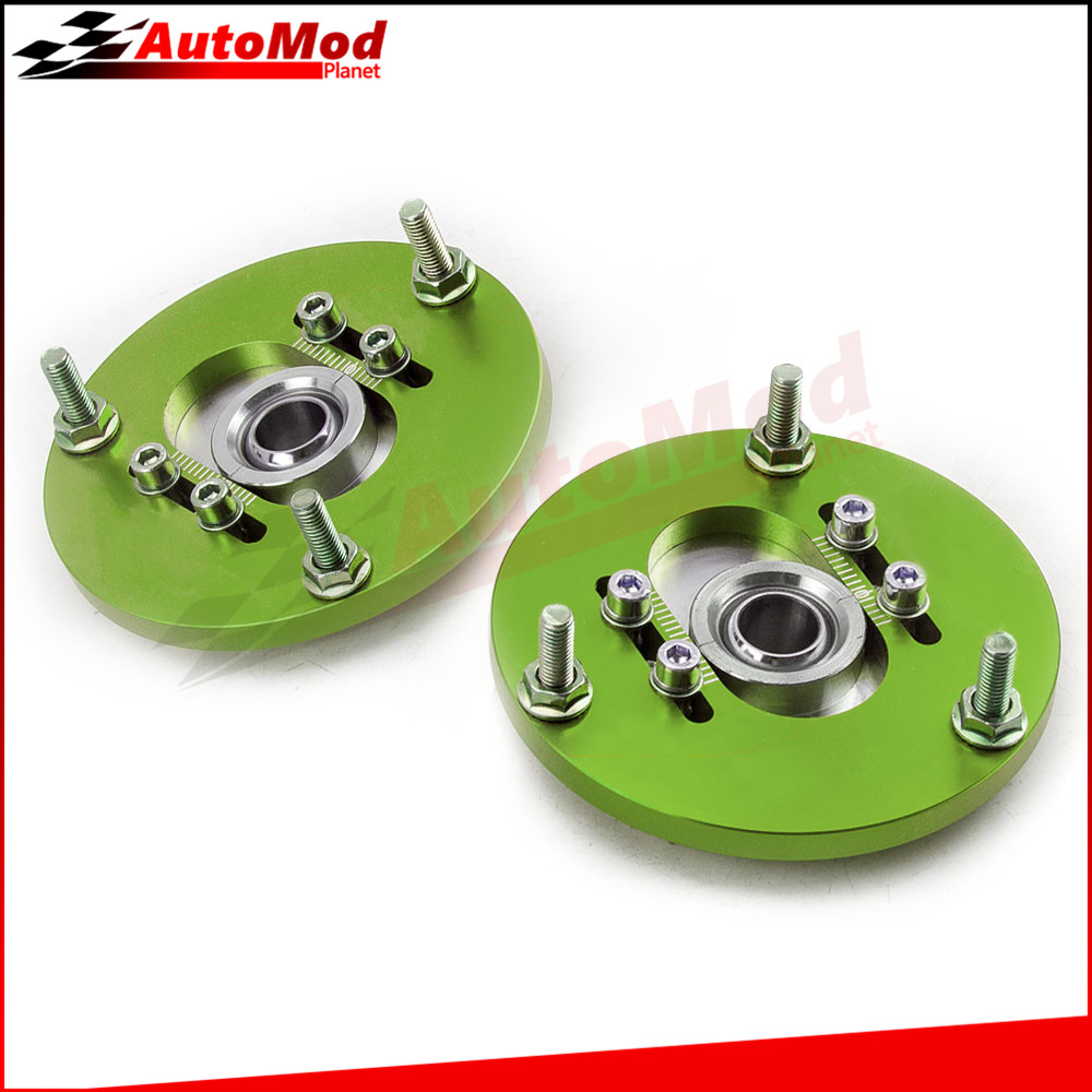 ADJ. Coilover Camber Plate for BMW E36 3 Series M3 318i 323i Green 320 323 325 Coilovers Caster Top Mounts 318i 323i Domlager for bmw 3 series e36 318 328 323 325 front coilover strut camber plate top mount green drift front domlager top upper mount