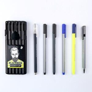 Image 3 - Staedtler Triplus boîte noire, crayon mécanique 0.5mm, pointe marqueur Permanent, papeterie