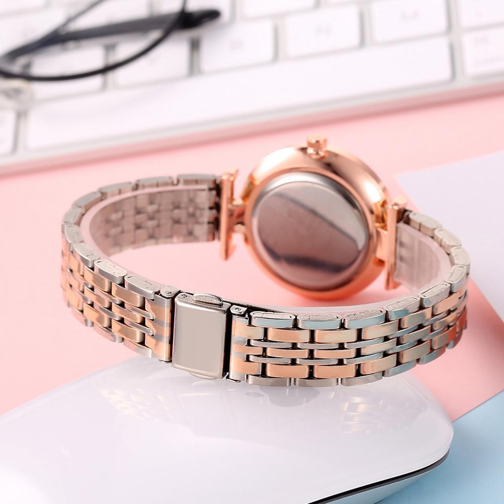 Women 39 s Silver Gold Steel Belt Watch Top Brand Luxury Crystal Female Clock Designer Ladies Waterproof Wristwatches reloj mujer in Women 39 s Watches from Watches