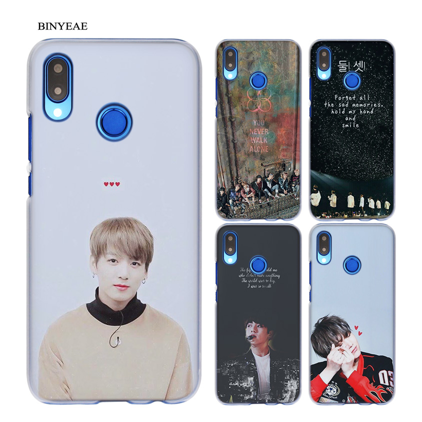 BINYEAE BTS Fire SUGA NO JAMS J-HOPE Transparent Hard Case Cover Coque Shell for Huawei  ...