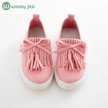 обувь для девочек Детская обувь 2016 весна девушки кожаные ботинки принцесса кисточкой Квартиры детская обувь девушки милые кроссовки детские для малыша девочек тренеров (China (Mainland))