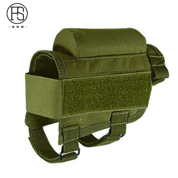 Nylon Tactical Nylon Buttstock Pouch Hunting Shooting Game Rifle Accessories Cheek Shell Cartridges Holder Carrier 5