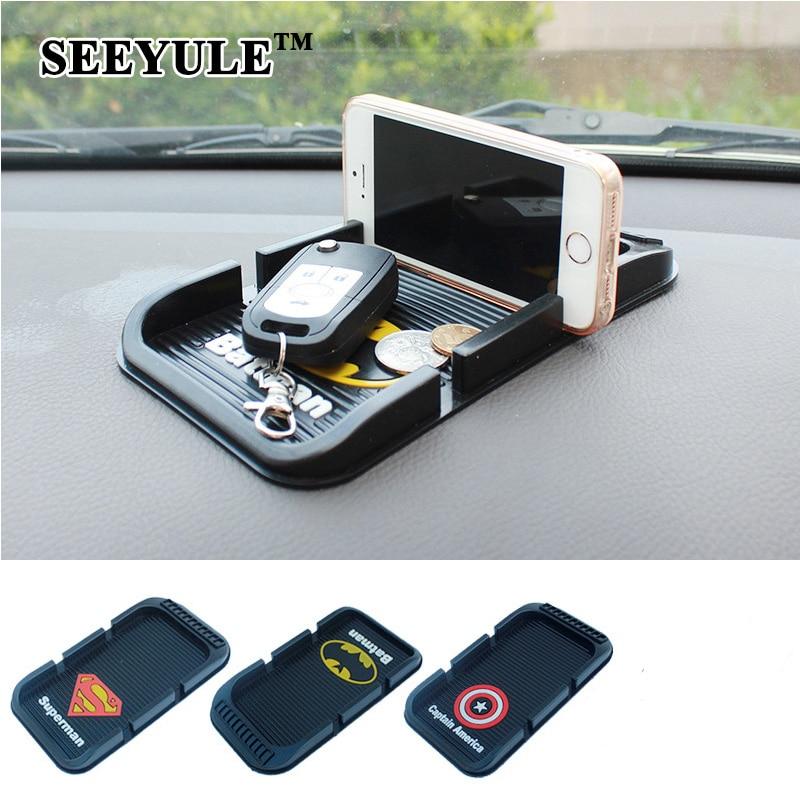1pc SEEYULE Car Anti Slip Auto Sticky antiscivolo simbolo del fumetto - Accessori per auto interni