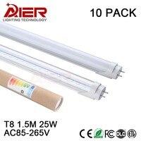 10pcs Free Shipping CE 1500mm 25w High Lumen Led Tube 5ft
