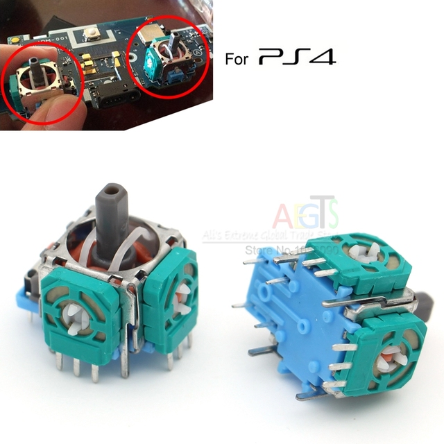 2Pcs 3D Analog Sensor Axis Module Switch for PS4 3D Joystick Case Repair Parts for Dualshock4 Controller PS 4 Case Freeshipping