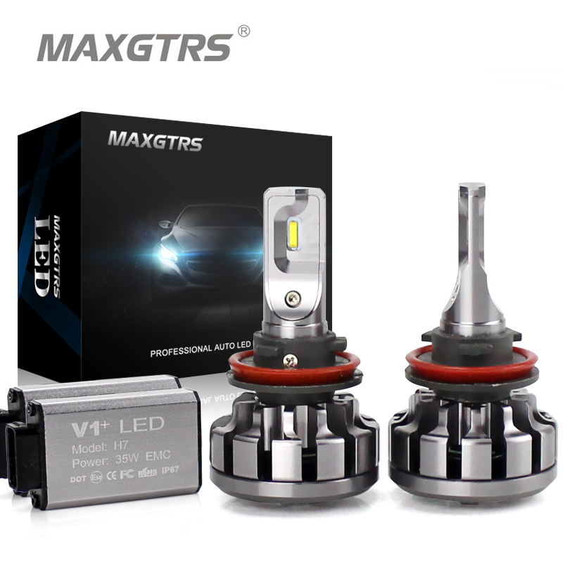 MAXGTRS H1 H3 H7 H4 H8 H11 9005 HB3 9006/HB4 9012 880 881 Car LED Headlights CANBUS Auto Front Bulb Automobiles Headlamp  2x h7 car led headlight auto p7 h4 h11 h1 h3 h7 h8 h9 9005 9006 9012 880 881 white csp led headlights bulb fog light 12v 24v 72w