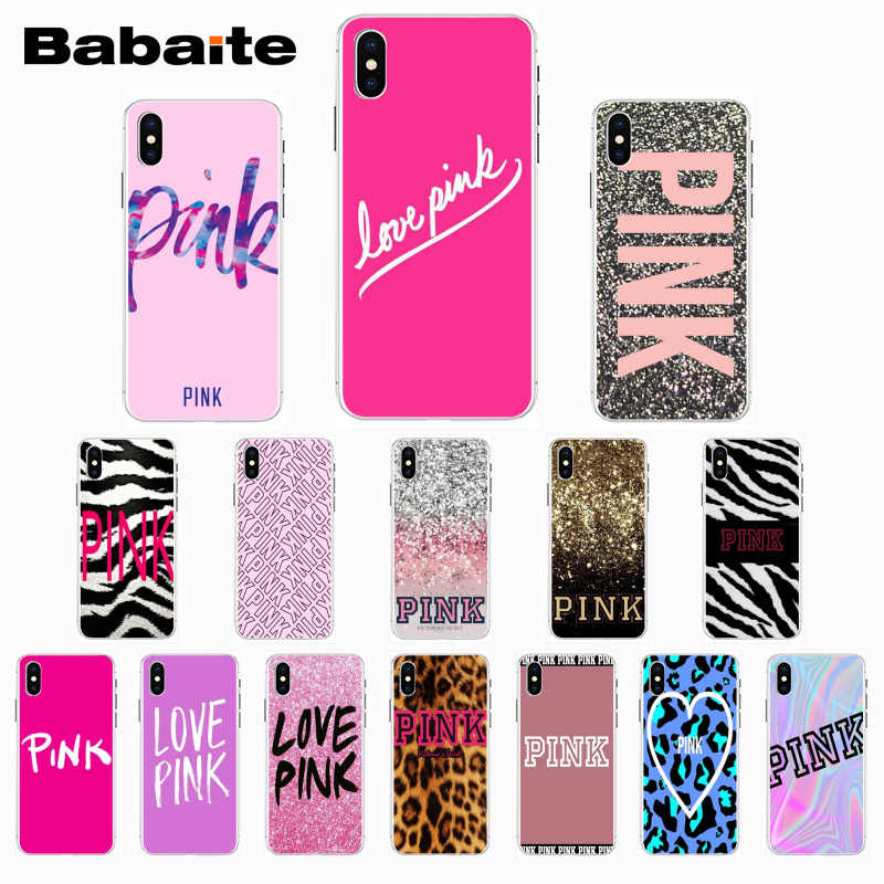 Babaite אהבה ורוד TPU שקוף רך טלפון Case כיסוי עבור iPhone 8 7 6 6S בתוספת X Xs Xr xsMax 5 5S SE 5C Cover11 11pro 11promax