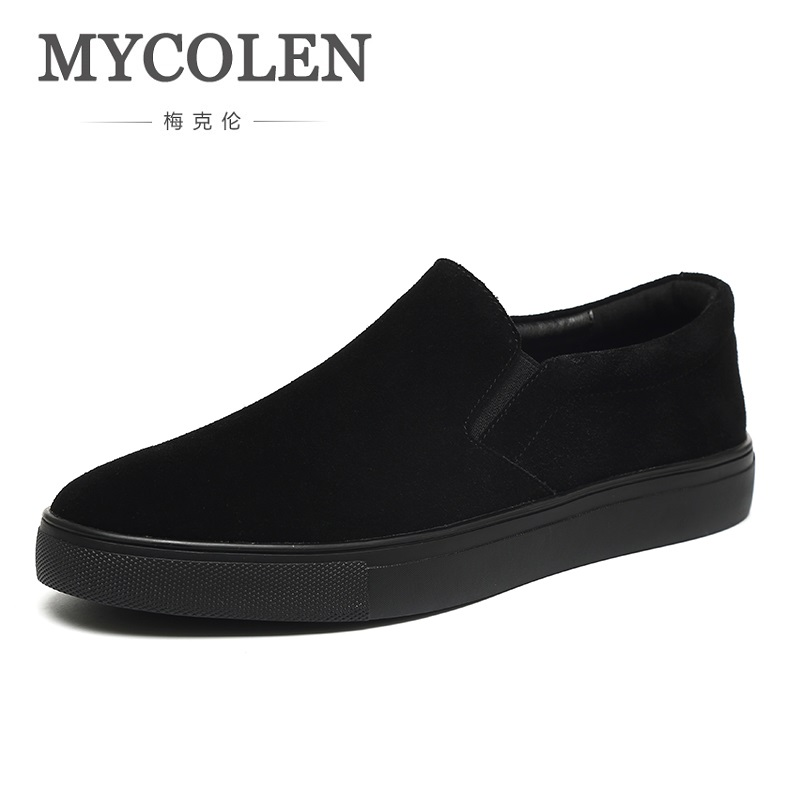 MYCOLEN 2018 New Spring/Summer Canvas Shoes Men High Quality Black Tide Shoes Breathable Slip-On Casual Men Shoes Tenis 2017 spring autumn breathable white wild men casual shoes 100% handmade pigskin leather comfort men shoes high quality size40 44