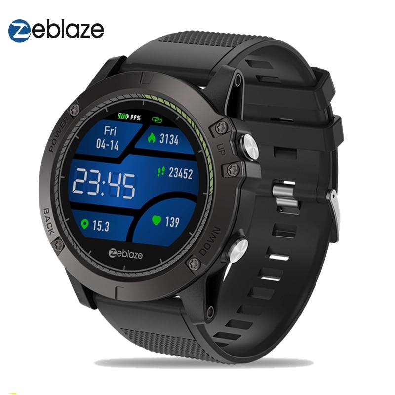 Upgrade Zeblaze VIBE 3 HR Color Display IPS Smartwatch IP67 Waterproof Wearable Device Heart Rate Monitor Outdoor Smart Watch g6 tactical smartwatch