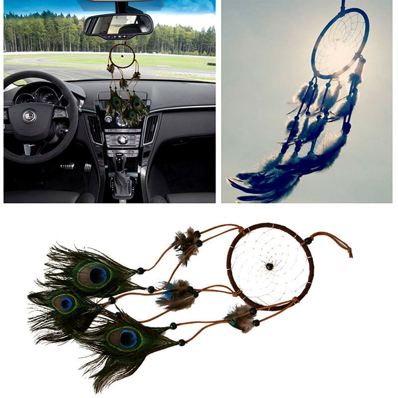 Peacock feather dream catcher adesivos para parede dream for Automobile decorations home