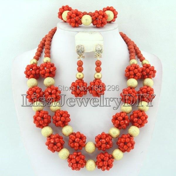 ce9a1d193fef5 الأزياء كريستال الكرة المجوهرات المرجانية النيجيري الزفاف الخرز الأفريقي  مجوهرات مجموعة HD0216. Click here to Buy Now!!