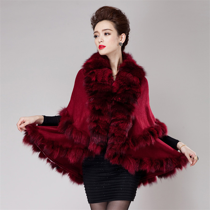 brand Russian Winter coat Women's natural fur coat jackets women fur knitted coats Lady cashmere wool fox fur cardigan jacket