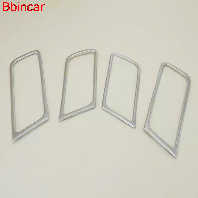 Bbincar ABS Chrome Interior Door Cup Bowl Accessories Trim For Skoda Rapid Spaceback 2013 2014 2015 2016 Car Auto Sedan Styling