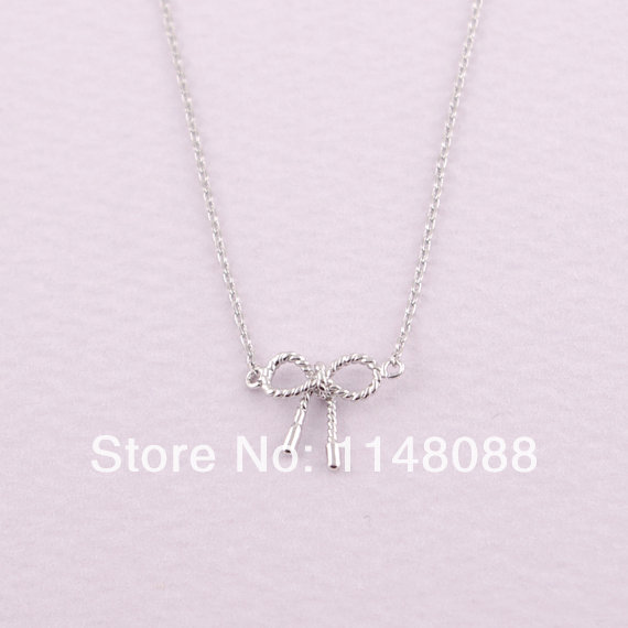 7ca7d64f1640 Moda hotting venta oro plata alta calidad exquisita hermoso lindo romántico  pequeño giro arco collar