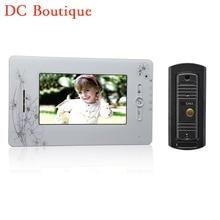 (1 set) 7 Inch Colorized Screen Intercom Phone 1 to 1 Video Door Phone System Door access Control Night Version Camera Talkback