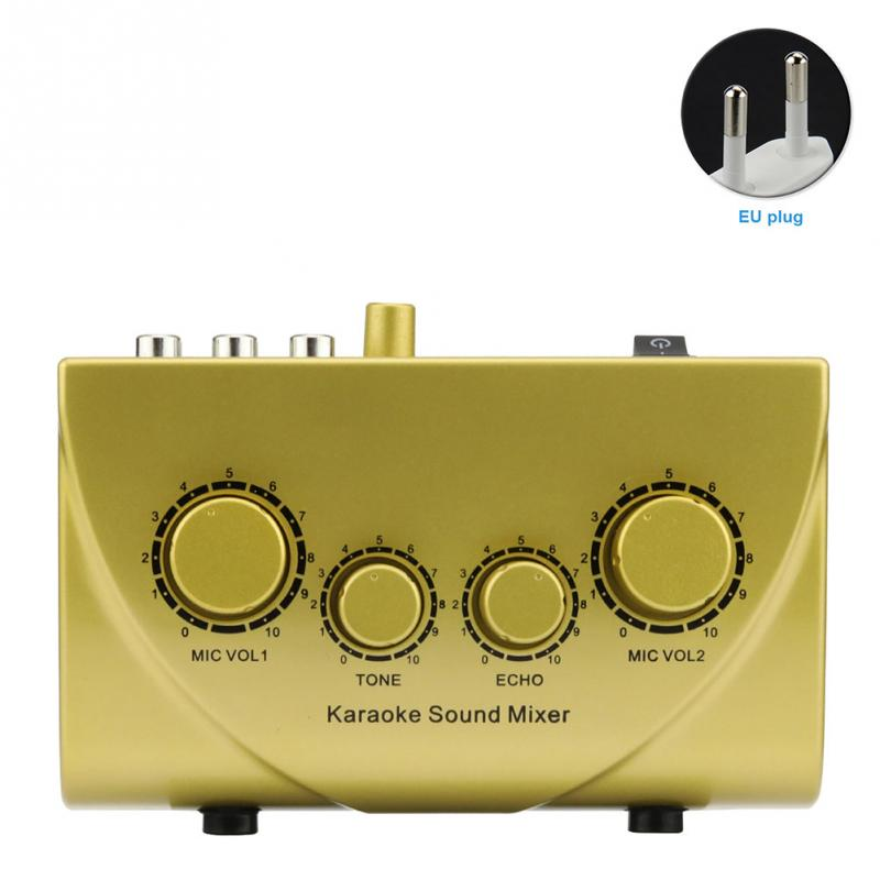 Karaoke Sound Mixer Professional Audio System Portable Mini Digital Audio Sound Karaoke Machine Echo Mixer System felyby karaoke mixer tv k song k song karaoke tv karaoke multi functional analog sound console